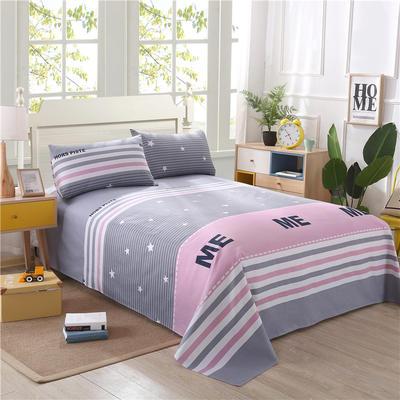 新款纯棉老粗布床单 120*230CM ME格