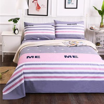 纯棉老粗布床单三件套 150*230CM三件套 ME格
