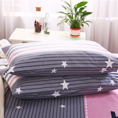 纯棉老粗布单枕套一对 48cmX74cm ME格
