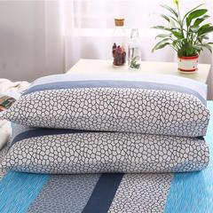首爱 纯棉老粗布单枕套一对 48cmX74cm 水立方蓝