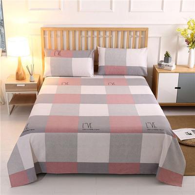 2020新款纯棉老粗布套件—单品床单 120x230cm LOVE