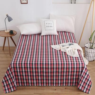 2020新款全棉色织老粗布床单 150x230cm 半壶纱