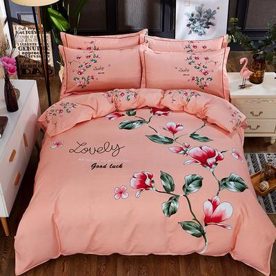 欧式美大版磨毛四件套-终版 1.8m(6英尺)床 俏佳人玉