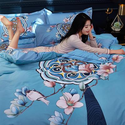 2019雲归梦全棉活性大版四件套-中国风花卉风格 1.8m床(床单款) 洛思韵-爆款