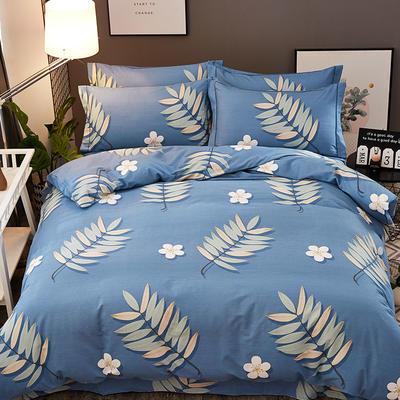 2018新款-全棉加厚生态磨毛四件套 1.2m(4英尺)床(三件套) 芭提雅