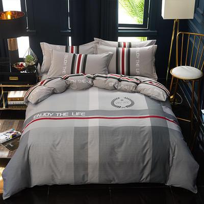 2020新款13372全棉活性大版四件套 1.2m床单款三件套 雅邦