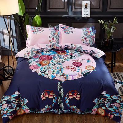2020新款13372全棉活性大版四件套 1.2m床单款三件套 韵味