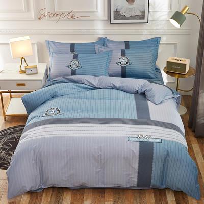 2020新款全棉全棉13372大版四件套 1.5m(5英尺)床单款 艾比利