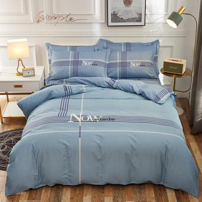 2020新款全棉全棉13372大版四件套 1.5m(5英尺)床单款 柏尔曼