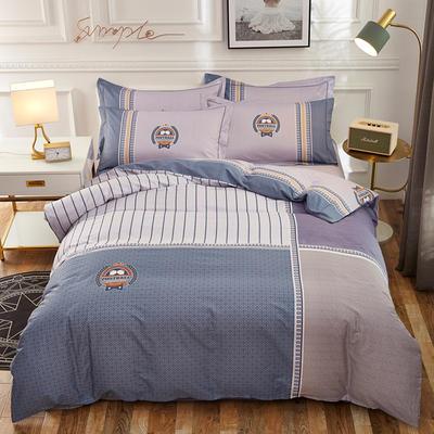 2020新款全棉全棉13372大版四件套 1.5m(5英尺)床单款 卡瑞