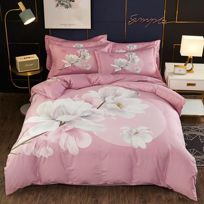 2020新款全棉全棉13372大版四件套 1.5m(5英尺)床单款 万紫千红 粉