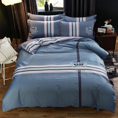 2020新款全棉全棉13372大版四件套 1.5m(5英尺)床单款 简单生活