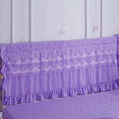 水洗棉夹棉床头罩 1.5m*0.5m 紫色