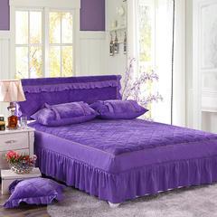 2018新款-法莱绒单床裙 150cmx200cm 紫色
