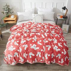 2018新款云貂绒毛毯毯子 1.2*2m 小兔