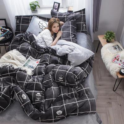 2019新款-法莱绒三/四件套 1.2m床(三件套床单款) 时尚达人
