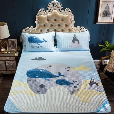 2019新款舒享顺滑天丝空调软席系列大版三件套 150*200cm 小鲸鱼