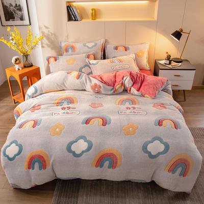 2020新款小版雪花绒四件套 1.2m床单款三件套 彩虹宝贝