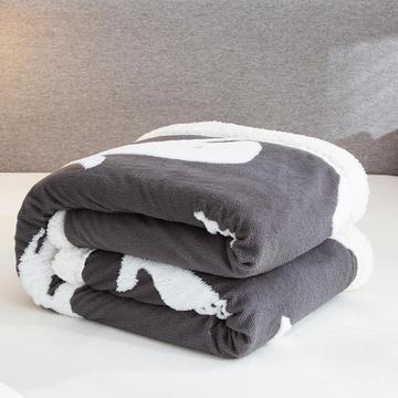 2020新款舒棉绒+羊羔绒单被套盖毯