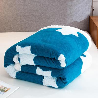 2020新款舒棉绒+羊羔绒单被套盖毯 180x220cm 星语