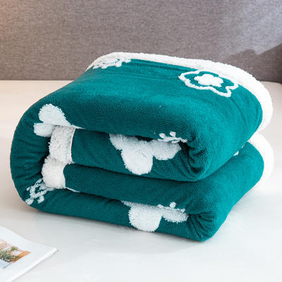 2020新款舒棉绒+羊羔绒单被套盖毯 180x220cm 炫彩