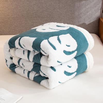 2020新款舒棉绒+羊羔绒单被套盖毯 180x220cm 一叶知秋
