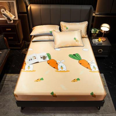 2021新款冰丝凉席亲肤床笠款 150×200cm 萝卜兔