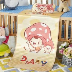 2018新款儿童冰丝卡通凉席 120cmX60cm 蘑菇头