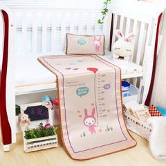 2018新款儿童冰丝卡通凉席 120cmX60cm 尺子兔-黄