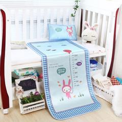 2018新款儿童冰丝卡通凉席 120cmX60cm 尺子兔-蓝