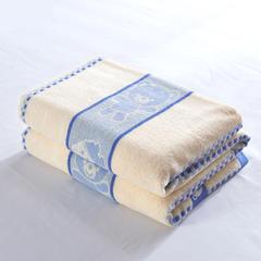 2018新款32老式毛巾被小熊全棉 150*200 小熊蓝