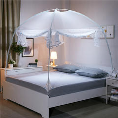 风轩811#加高防蚊布蒙古包蚊帐 1.2m(4英尺)床 白色