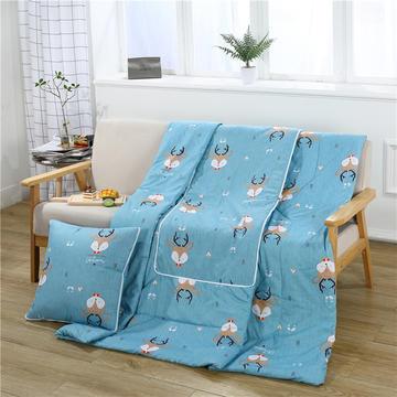 2018新款精品印花抱枕被 40X40cm(105*150) 鹿宝宝