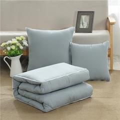 2019新款-小清新风格水洗棉抱枕被 小号105*150 纯色款-高级灰