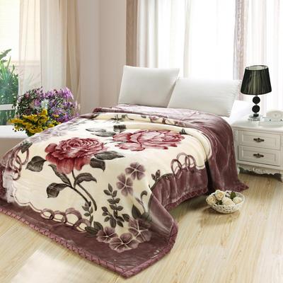 拉舍尔毛毯4斤-12斤+花型多多 (经典款) 1.5*2.0m(4斤) 32灰豆沙