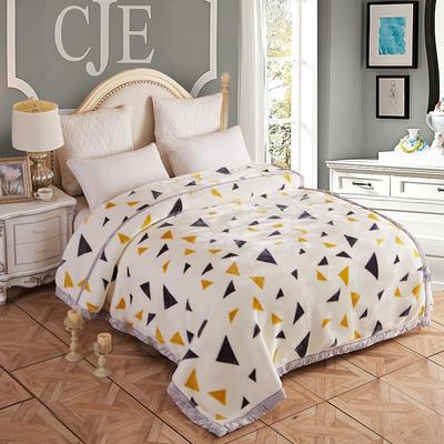拉舍尔毛毯4斤-12斤+花型多多 (经典款) 1.5*2.0m(4斤) 爱上几何