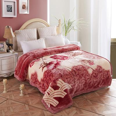 拉舍尔毛毯4斤-12斤+花型多多 (经典款) 1.5*2.0m(4斤) 繁花香舍-豆沙