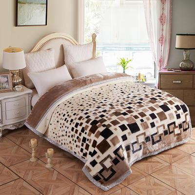 拉舍尔毛毯4斤-12斤+花型多多 (经典款) 1.5*2.0m(4斤) 黑白格调