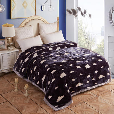 拉舍尔毛毯4斤-12斤+花型多多 (经典款) 1.5*2.0m(4斤) 云朵