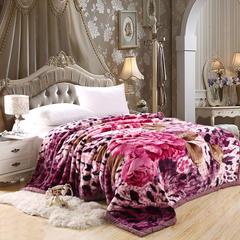 2018新款-拉舍尔毛毯4斤-12斤+花型多多(精品款) 1.8*2.2m(5.6斤) 魅牡丹-紫