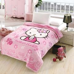 2018新款-拉舍尔毛毯4斤-12斤+花型多多(卡通学生款) 1.5*2.0m KT猫-粉色