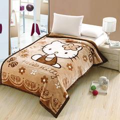 2018新款-拉舍尔毛毯4斤-12斤+花型多多(卡通学生款) 1.5*2.0m KT猫-咖啡色