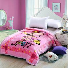 2018新款-拉舍尔毛毯4斤-12斤+花型多多(卡通学生款) 1.5*2.0m 史努比-粉色