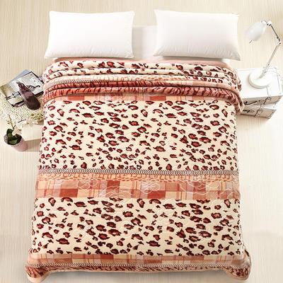 天丝毯 专版花型 200cmx230cm 豹纹控