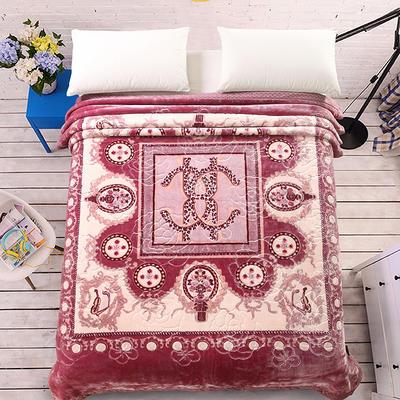 天丝毯 专版花型 200cmx230cm 罗马假日玫粉色