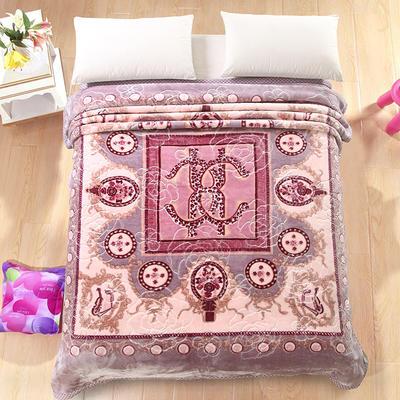 天丝毯 专版花型 200cmx230cm 罗马假日紫灰色