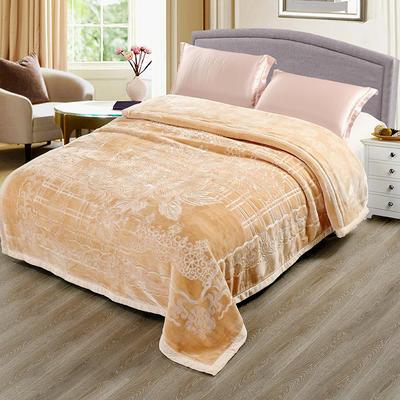 玉雕-精品素色压花毯 200cmx240cm±0.5cm 玉雕-黄色