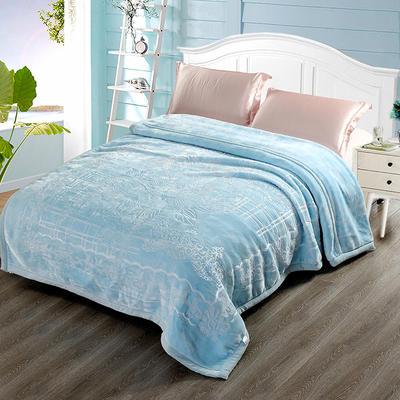 玉雕-精品素色压花毯 200cmx240cm±0.5cm 玉雕-蓝色