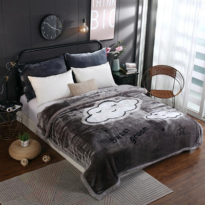 拉舍尔毛毯4斤-12斤+花型多多 (经典款) 1.5*2.0m(4斤) 羞羞的云朵