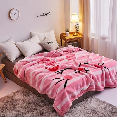 拉舍尔毛毯4斤-12斤+花型多多 (经典款) 1.5*2.0m(4斤) 乖乖兔